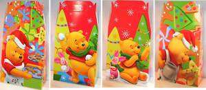 CHRISTMAS GIFT BAG WINNIE THE POOH PARTY FAVOR 10P NEW