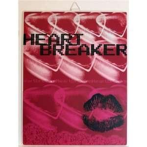 HEARTBREAKER Metal Tin Sign Home & Kitchen