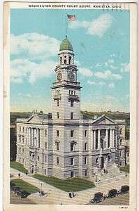 VINTAGE POSTCARD WASHINGTON COUNTY COURT HOUSE MARIETTA OHIO