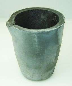 Clay Graphite Crucible #6 Melt Gold Silver Brass Bars