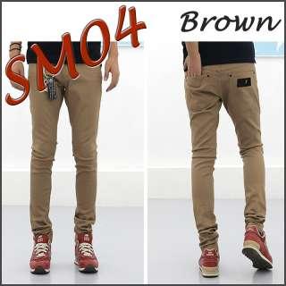 Sense Men Jean Pants Denim Beige brown gray Skinny SM04