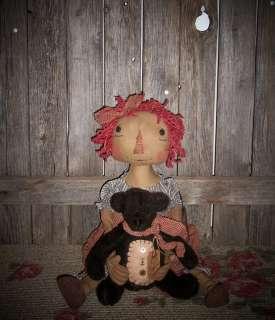 """~~Primitive Raggedy /""""Freida /& Freddy Frog/"""" PATTERN #73~~Ginger Creek Crossing"""