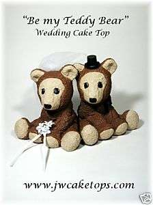 Be my Teddy Bear Wedding Cake topper tops Bride 51TB