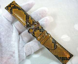 Real Python Snake Skin Watch Band 22mm   Factory Original Brown