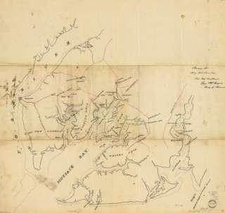 1862 Civil War map of Virginia, Mobjack Bay