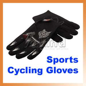 Sport Bicycle Bike Full Finger Cycling Gloves Mesh J