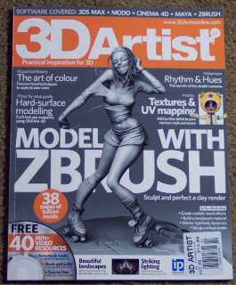 3D ARTIST Free DVD Model With ZBRUSH Rhythm & Hues No22