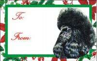 12 Toy Poodle Dog Christmas Gift Tags
