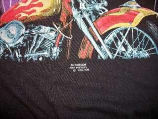 Vintage Mens Harley Davidson Wisconsin Police 3D Emblem Shirts Lot XL