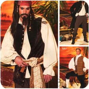 4923 men Simplicity Jack Sparrow POTC COSTUME PATTERN pirate coat