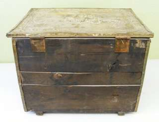 Antique Large Wood & Tin Cinder Box Horse Picture
