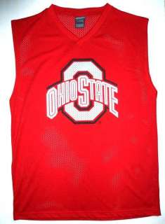 OHIO STATE Sleeveless Mesh Jersey Shirt Mens L Lg NEW