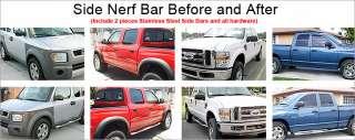 09 11 Honda Pilot Chrome Side Step Nerf Bars