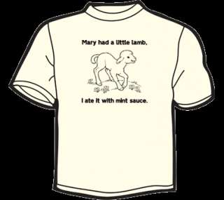 MARY HAD A LITTLE LAMB, I ATE IT T Shirt MENS funny vtg