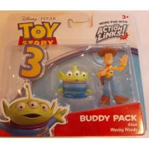 Toy Story 3 Action Links Woody und Alien Figuren Freundes Pack
