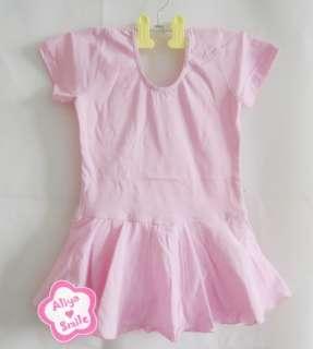 Short Sleeve Ballet Dress Skirt Leotard Costume SZ 4T 6T 8T 10T