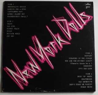 NEW YORK DOLLS Mercury UK EX 1973 2LP Johnny Thunders