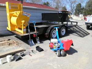 NEW CONCRETE LANDSCAPE CURBING EDGING MACHINE PKG