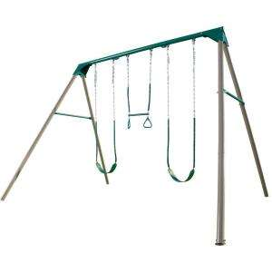 Lifetime A Frame Deluxe Swing Set 290038 at The Home Depot