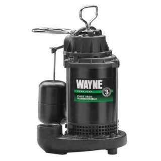 HP Cast Iron Submersible Sump Pump with Vertical Float Switch
