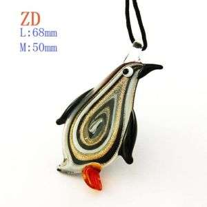 G4045 Ladys Murano Lampwork Lovely Penguin Pendant Chain Necklace