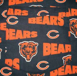 CHEF HAT & APRON MADE W CHICAGO BEARS NFL FABRIC NEW