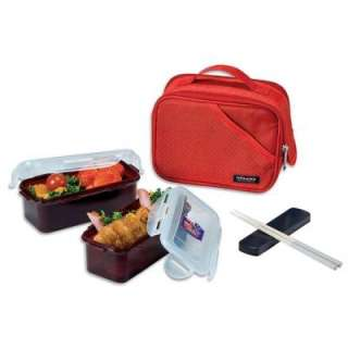 Lock and Lock Lunch Box Set W/ Red Bag HPL762DR