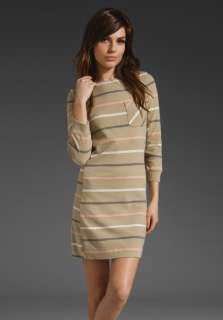 MARC BY MARC JACOBS Mallory Stripe Jersey Dress in Chinchilla at