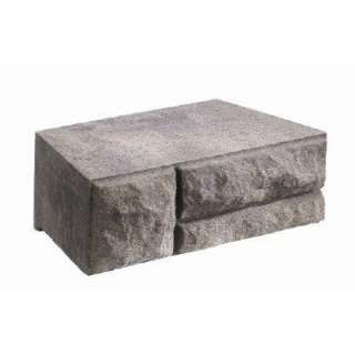 Charcoal/Tan Concrete Garden Wall Block 604707CHT