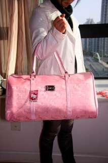 Hello Kitty pink travel bag shoulder bag luggage NEW #1