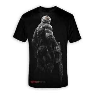 Crysis 2 T shirt Grey & red   T Shirt Gr. M  Sport