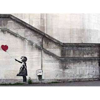 Banksy Poster Hope Girl With Red Balloon   Poster Kleinformat