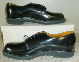 MENS VTG 60s 70s MAD MEN BLACK LEATHER TIE SHOES 10 178 NOS DEADSTOCK
