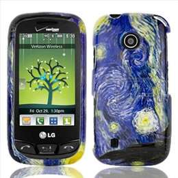 Blue Flower Hard Case Cover for LG Cosmos Touch VN270