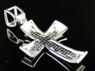10K MENS LADIES MINI GENUINE DIAMOND CROSS CHARM PENDANT