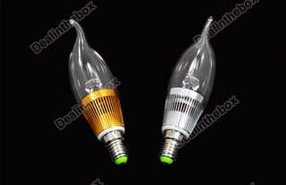 1x E14 Candle LED Light Lamp Bulb 3W 85~265V Warm White