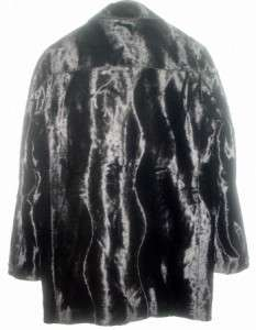 GIANNI VERSACE MENS SEAL SKIN FAUX FUR PEA JACKET  UNWORN IN MINT