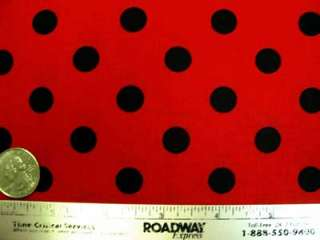 Miller~THATS IT DOT~Red & Black Polka Fabric /Yd.