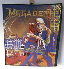 Heavy Metal Rock Group MEGADETH Large Jacket Patch 12 x 12,must L@@K