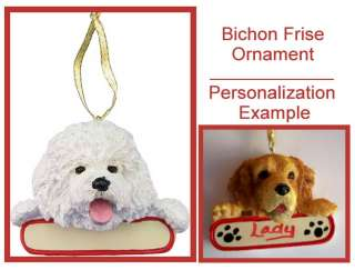 BICHON FRISE Personalized Christmas Ornament Gift New