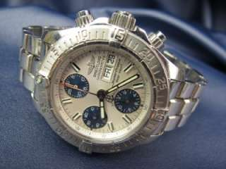 Mens BREITLING Chronograph SUPER OCEAN Day Date Stainless Watch