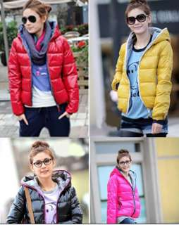 Womens New Fashion Long Sleeve Winter Warm Hoodie Zip Up Jacket Coat