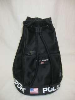 70 Ralph Lauren RLL Lauren Sport black back pack bag