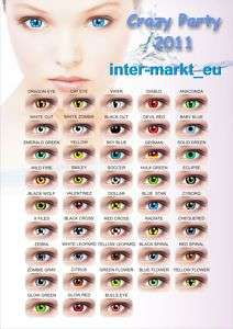 Crazy & Fun Farbige Kontaktlinsen Color Contact lenses