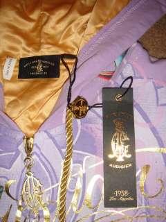 Christian Audigier Platinum Rhinestone Women Hoodie Jacket Ed Hardy