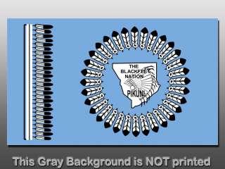Blackfeet Nation Flag Sticker   decal blackfoot indian