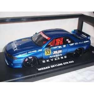 NISSAN SKYLINE GTR GT R32 BLAU COUPE TUNING 1/18 JADA MODELLAUTO
