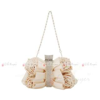 new lady Wedding Evening Purse bridal Clutch with chain 5 colours