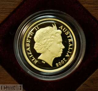 2008 Centenary of Rugby League $10 Gold Proof Coin .999