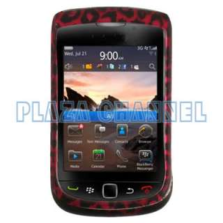 Pink Leopard Hard Plastic Phone Skin Cover Case For BlackBerry Torch